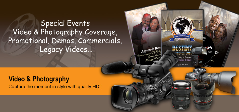Special Events, Video, Photography, Commercial Videos