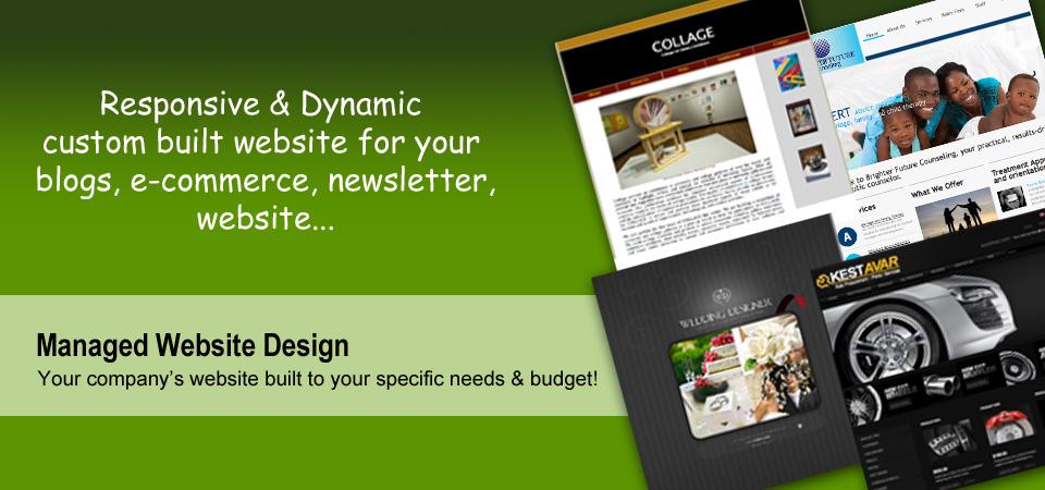 Responsive, Dynamic, Blogs, E-commerce, Newsletter, Website