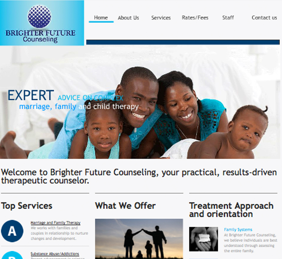 Website designed for a social service company in Denver, Colorado.