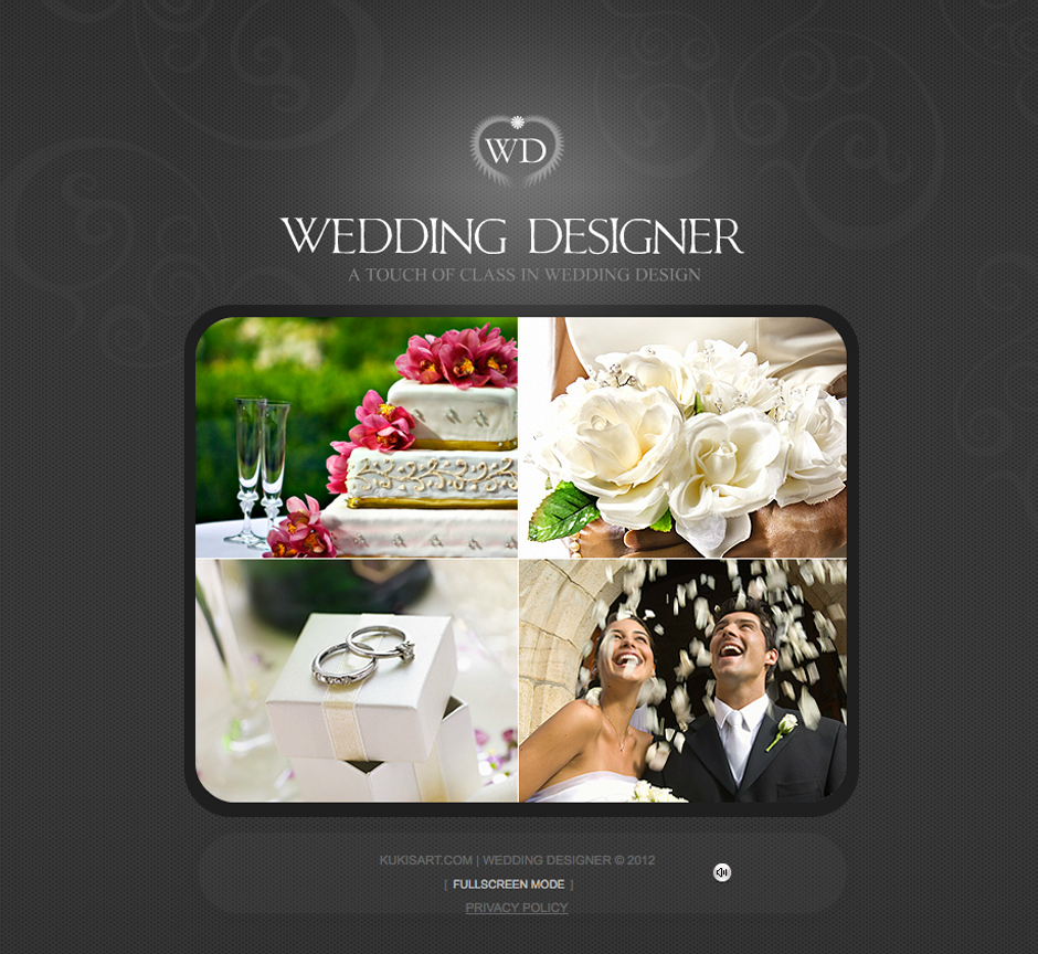 Website designed for a wedding event planner company in Colorado Springs, Colorado.