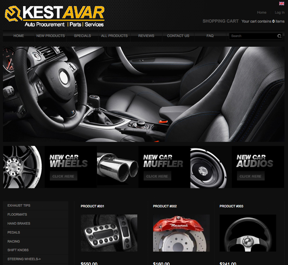 Website designed for an auto parts procurement company in Denver Colorado.
