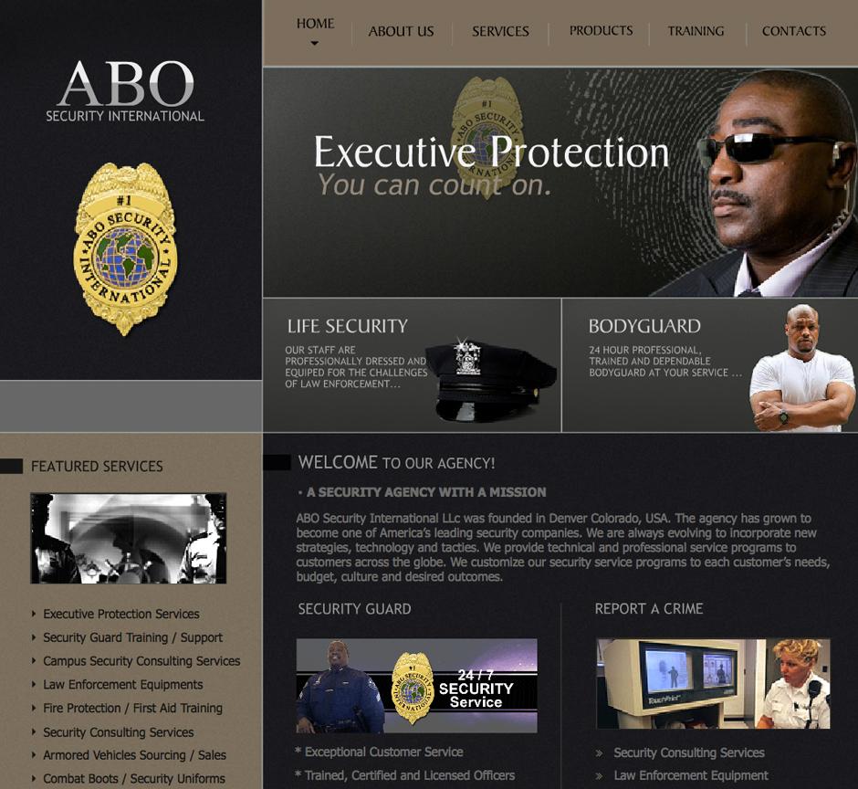 Website designed for a security company in Denver Colorado.