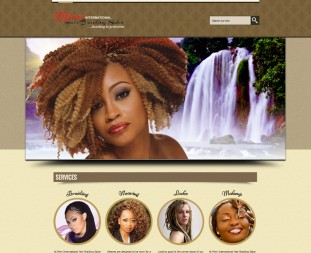 Website designed for Mimi International Hair Braiding Salon.